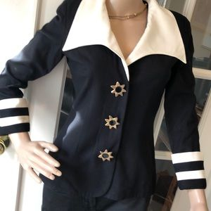 Vintage Warren petites fab sailor theme blazer
